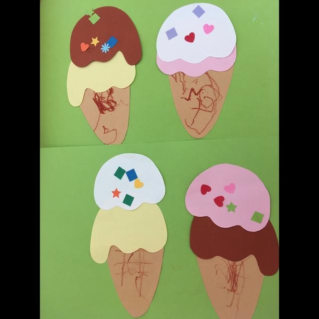【アプリ投稿】7月絵画  アイスクリーム