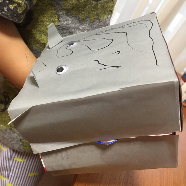 【アプリ投稿】箱ティッシュの空き箱でカバ