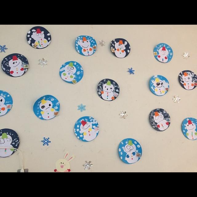 【アプリ投稿】雪だるまの壁面