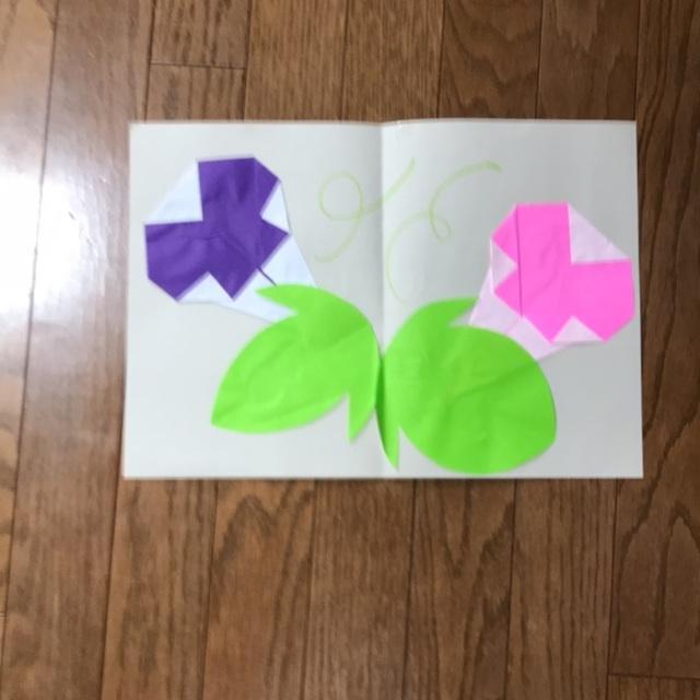 【アプリ投稿】7月  朝顔  4歳