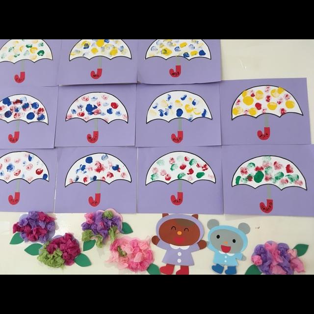 【アプリ投稿】【水玉模様の傘】1歳児