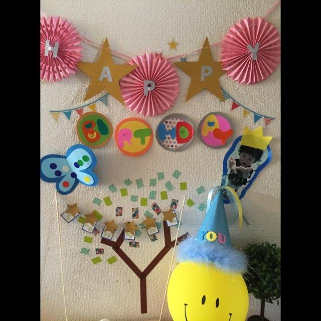 【アプリ投稿】お誕生日壁面装飾