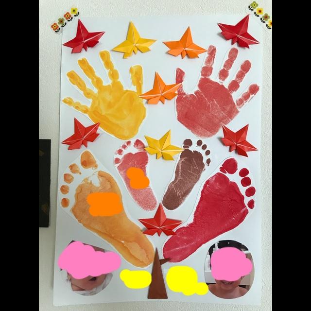 【アプリ投稿】【秋の手形アート】