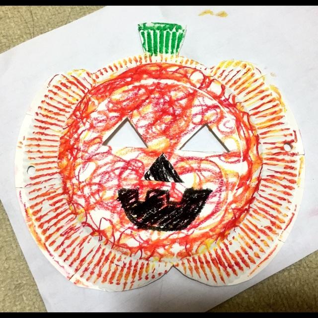 【アプリ投稿】【ジャック・オ・ランタンお面】3歳児