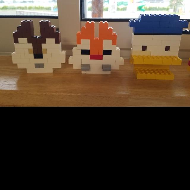 【アプリ投稿】レゴ作品 チップ デール ドナルドダック