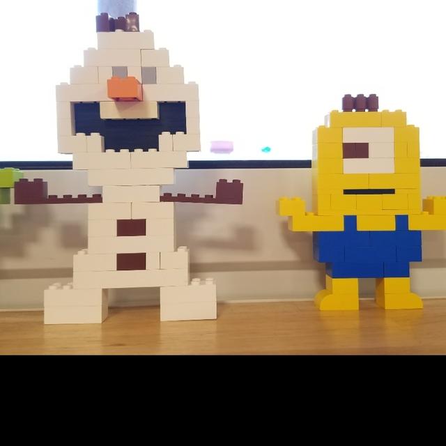 【アプリ投稿】レゴ作品 オラフ ミニオン