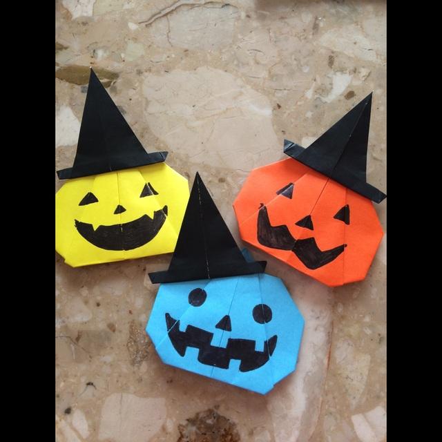 【アプリ投稿】折り紙 壁面 ハロウィン