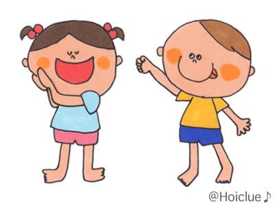 男女の子どもが楽しく笑っている様子