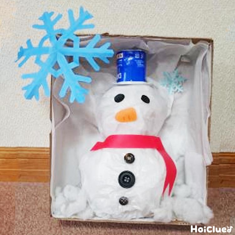 雪だるまのオブジェ〜溶けない手作り雪だるま〜