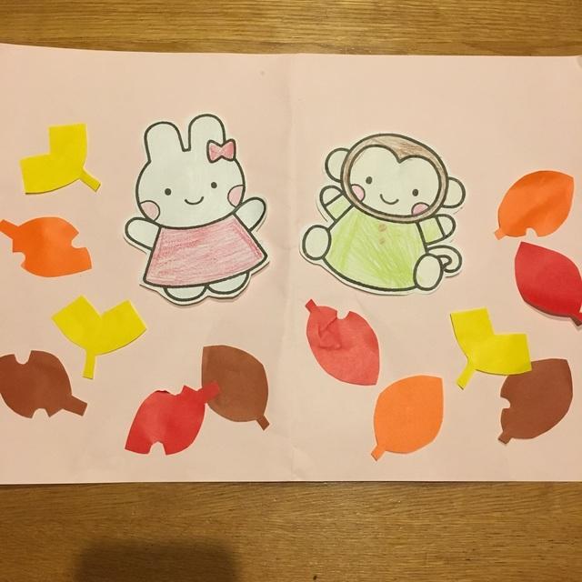 【アプリ投稿】11月(秋)製作 1.2歳 紅葉