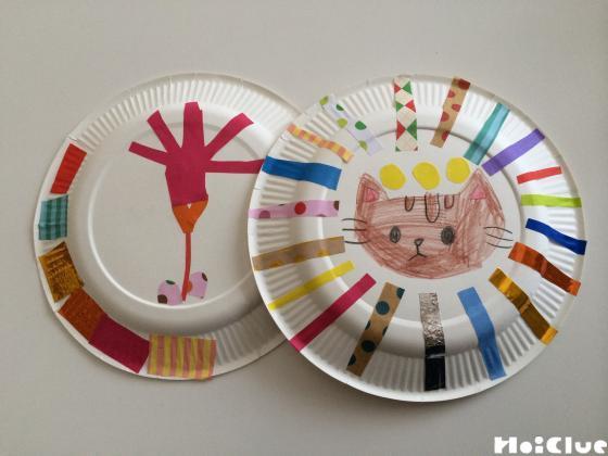 装飾された紙皿の写真