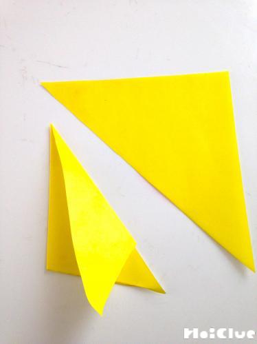 黄色い折り紙を折った写真