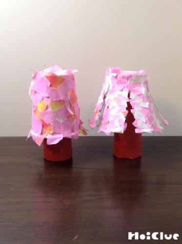 桜の花を咲かせよう!〜身近な素材で春気分〜
