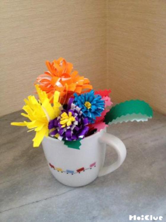 お花のカラフルブーケ〜折り紙を使った本物みたいな製作遊び〜