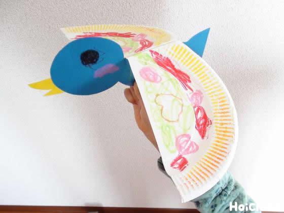 パタパタはばたく鳥〜紙皿1枚で動きが楽しい製作おもちゃ