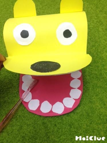 お口の開く動物のおもちゃの写真