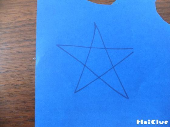 画用紙に書いた星
