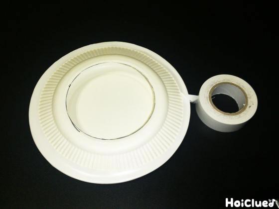 紙皿を二枚合わせた写真