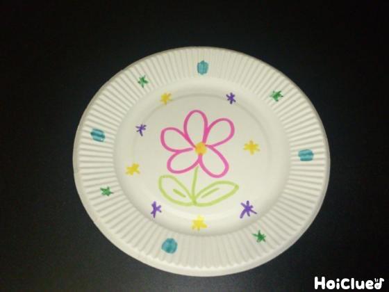 紙皿に絵を描いた写真
