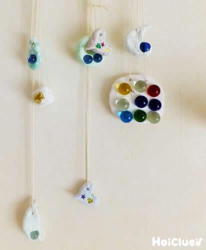 涼しげビー玉飾り〜ガラスの輝きがきれいな夏にもってこいの手作り飾り〜