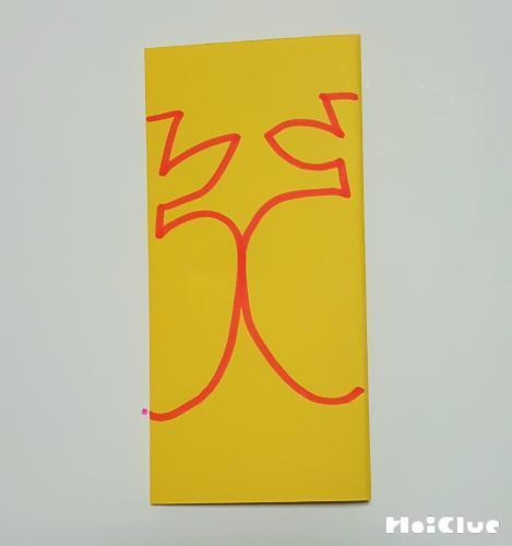 画用紙をおり絵を描いた写真