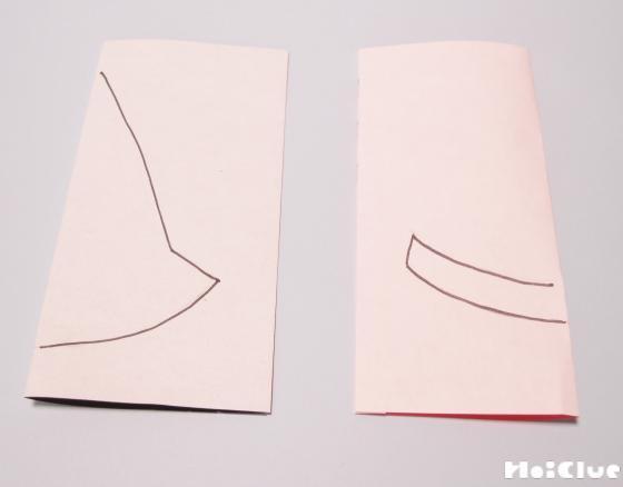 帽子の部分を作っている写真