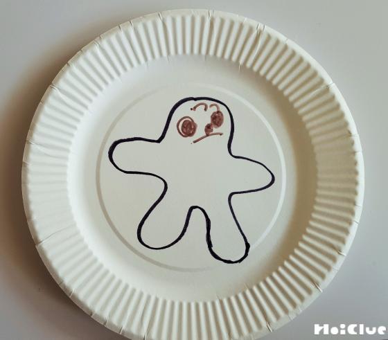 紙皿に絵を描い写真