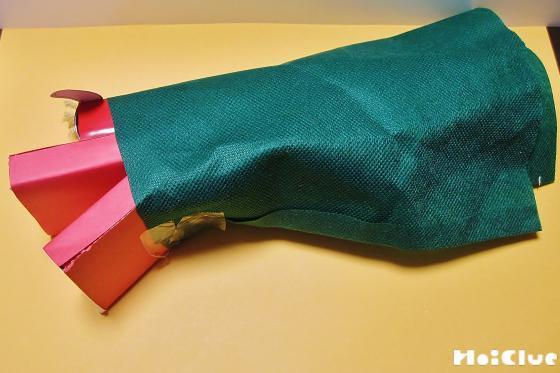 胴体の部分に緑の布を巻いた写真