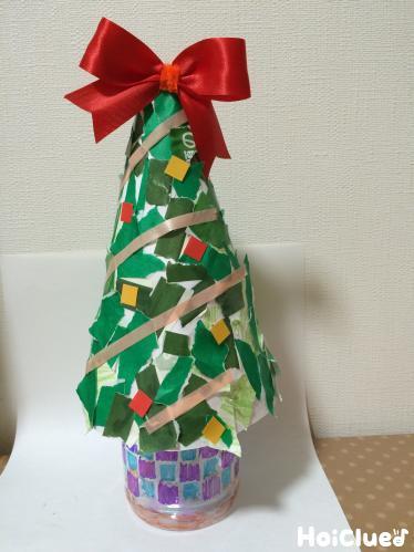 びりびりペタペタ!立体クリスマスツリー〜切り貼りで楽しむクリスマス製作〜
