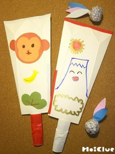 牛乳パック羽子板〜廃材で作る丈夫な手作り羽子板と羽〜