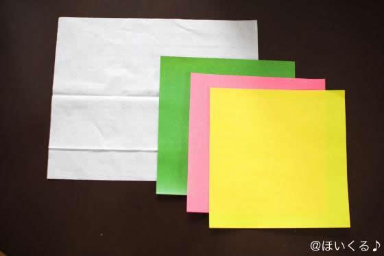 色とりどりの折り紙の写真