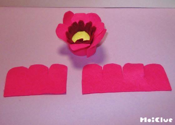 フェルトで花びらを作った写真
