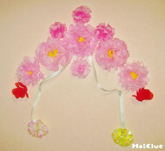 ふわふわお花の壁飾り〜お部屋を彩る手作り製作〜