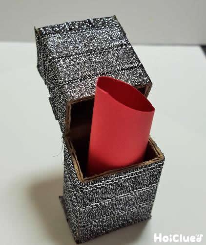 箱を作りま周りをテープで包んだ写真