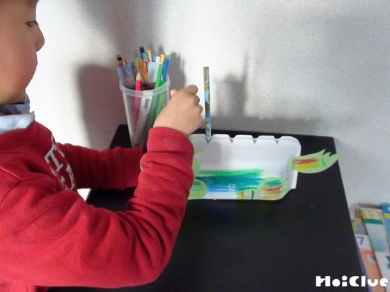 鉛筆をさしている写真