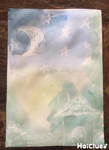 上から絵の具を塗った写真