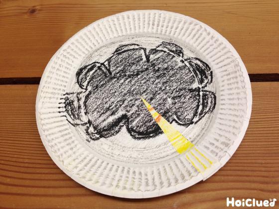 2枚の紙皿を重ね合わせた写真