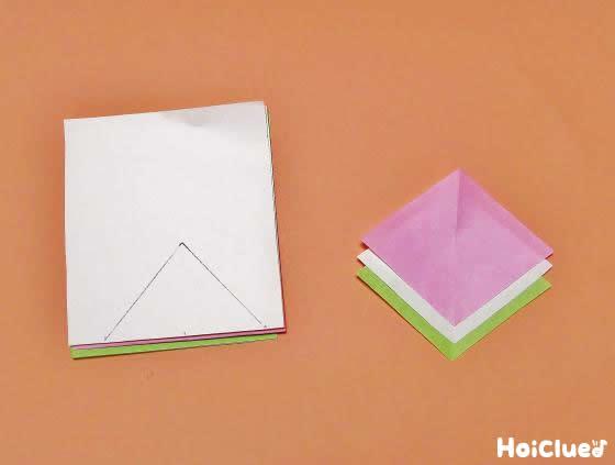 折り紙で作ったひし餅
