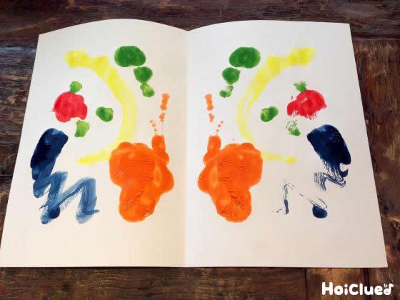 【お絵描き技法】デカルコマニー〜幅広い年齢で楽しめる、絵の具で楽しむ模様作り〜