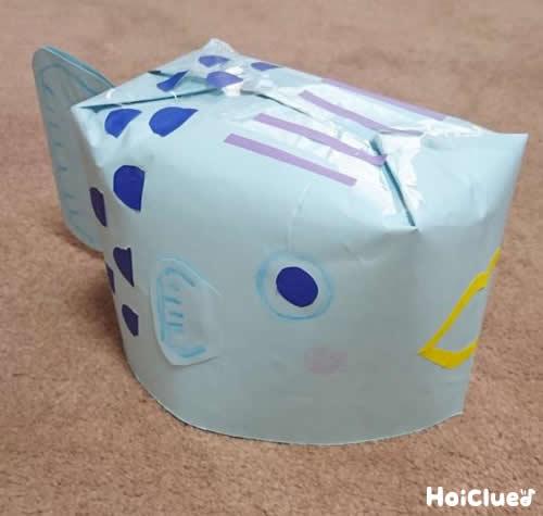 ぎょぎょ!魚のぼうし〜封筒で作るおもしろアイテム〜