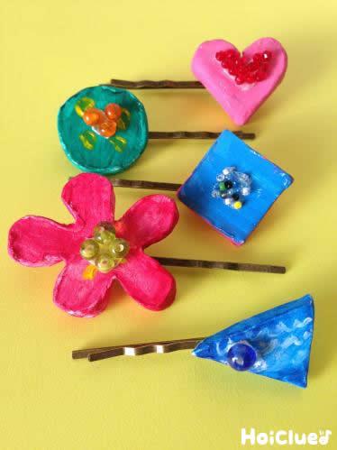 オリジナルモチーフ付き!カラフルヘアピン〜紙粘土で楽しむ手作りアクセサリー〜