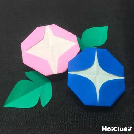 折り紙で朝顔を作ろう!