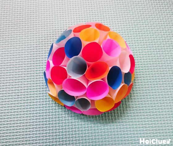 円錐を重ねていき半円になった写真