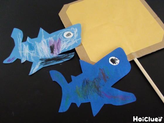 サメに模様をつけている写真