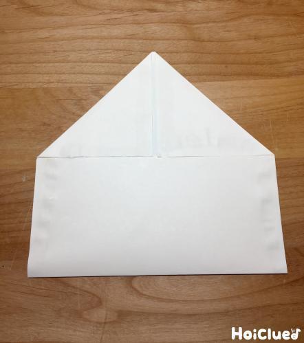 三角に折った写真