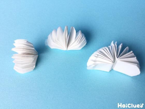 白い紙でクリームの部分を作った写真