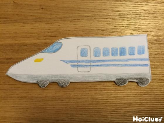 新幹線の絵を描いた写真