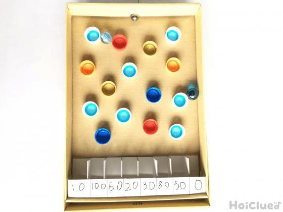 コロコロ♪ビー玉転がしゲーム〜パチンコ風!?の手作りおもちゃ〜