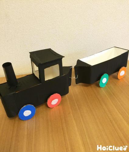 牛乳パック機関車〜たっぷり運べる手作りおもちゃ〜