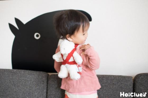 【工作コラム】「わたしもママよ!」おままごと用おんぶひも〜素材/幅広ゴム〜
